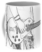 Gibson Les Paul Guitar Sketch Coffee Mug