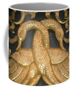 Gilded Temple Carving Of Geese Coffee Mug
