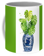 Ginger Jar Vase 1 With Monstera Coffee Mug