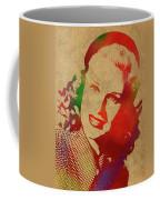 Ginger Rogers Watercolor Portrait Coffee Mug