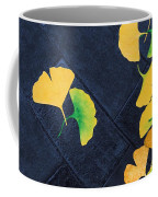 Ginkgo Leaves On Pavement Coffee Mug