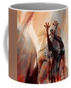 Giraffe Abstract Art 002 Coffee Mug