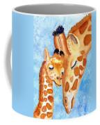 Giraffe Baby And Mother Coffee Mug