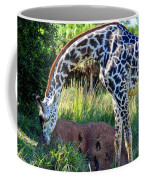 Giraffe Feasting Coffee Mug