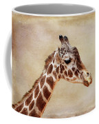 Giraffe Portrait With Texture Coffee Mug