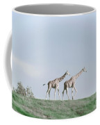 Giraffe Pair On Hill Coffee Mug