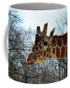 Giraffe Stretching For A View Coffee Mug
