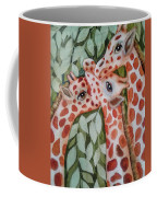 Giraffe Trio By Christine Lites Coffee Mug by Allen Sheffield