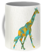 Giraffe Watercolor Art Coffee Mug