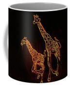 Giraffes Light Show  Coffee Mug