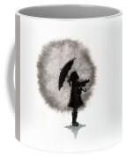 Girl And Umbrella Coffee Mug