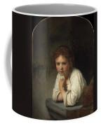 Girl At A Window  Coffee Mug
