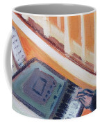 Girl At Keyboard Coffee Mug