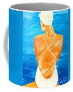 Girl At The Pool Coffee Mug