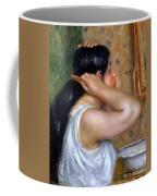 Girl Combing Her Hair Coffee Mug
