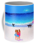 Girl Friends - Beach Painting Coffee Mug