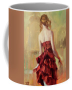Girl In A Copper Dress II Coffee Mug