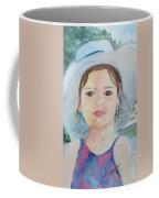 Girl In A Hat Portrait Coffee Mug