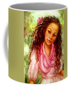 Girl In A Pink Dress Coffee Mug