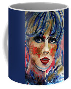 Girl In Blue And Gold Coffee Mug