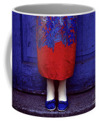 Girl In Colorful Flower Dress Coffee Mug