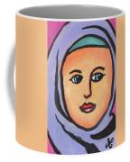 Girl In Purple Scarf Coffee Mug