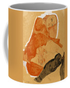 Girl In Red Robe And Black Stockings Coffee Mug