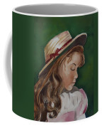 Girl In Ribboned Straw Hat Coffee Mug