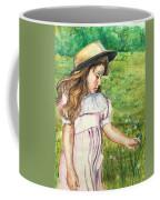 Girl In Straw Hat Coffee Mug