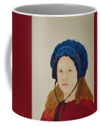 Girl In The Blue Bonnet Coffee Mug