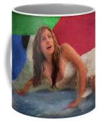Girl In The Pool 3 Coffee Mug