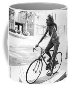 Girl On Bike Sculpture Grand Junction Co Coffee Mug