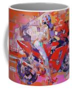 Girl On Red Bike Coffee Mug