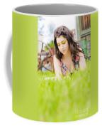 Girl Reading Book Coffee Mug