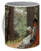 Girl Reading Under An Oak Tree Coffee Mug