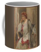 Girl - Sensuousness - Beauty - Vintage - Wall Art - Art Print - Serenity - Flowers Coffee Mug