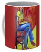 Girl Sitting Coffee Mug