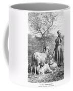 Girl Tending Sheep Coffee Mug