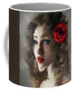 Girl With A Red Rose.. Coffee Mug