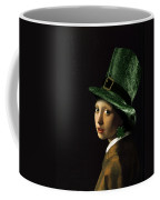 Girl With A Shamrock Earring Coffee Mug