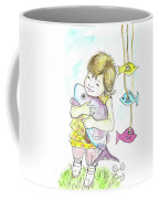 Girl With A Toy-fish Coffee Mug