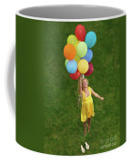 Girl With Air Balloons Coffee Mug