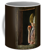 Girl With Apple Coffee Mug