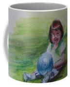 Girl With Ball Coffee Mug