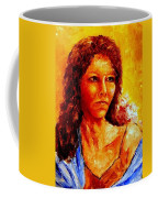 Girl With Blue Shawl Coffee Mug