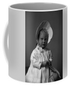 Girl With Bonnet And Curls Coffee Mug