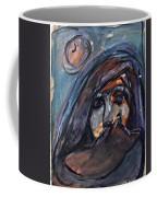 Girl With Cat And Moon Coffee Mug
