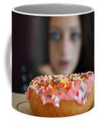 Girl With Doughnut Coffee Mug