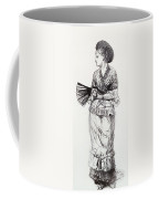 Girl With Fan Coffee Mug