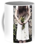 Girl With Flowers Coffee Mug